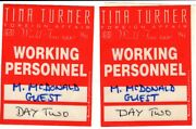 Tina Turner – Michael Mcdonald Working Personnel Passes 1990 Foreign Affair Tour