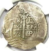 1663-p E Bolivia Philip Iv 8 Reales Coin 8r - Certified Ngc Vf30 - Rare Coin