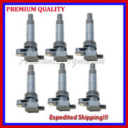 6pc Ignition Coil Kka1544 For 2010 2011 2012 2013 Hyundai Genesis Coupe 3.8l V6