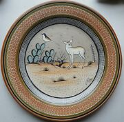 Vintage Tonala Burnished Earthenware 12 Charger Signed By Jimon - Mexico - Mint