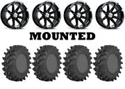 Kit 4 Sti Outback Max Tires 36x9-20 On Msa M12 Diesel Black Wheels 550