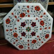 18 Table Top Inlay Marble Pietra Dura Antique Dining Coffee Side Octagon H64