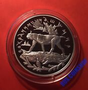 25 Roubles 1995 Russia Protect Our World Lynx Silver Proof