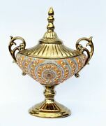 17.50h Roseate Palace Decorative Handcrafted Vase Urn Bowl Center Piece