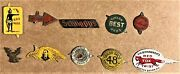 1900's Lot Of Ten 10 Antique To Vintage Chewing Tobacco Tags