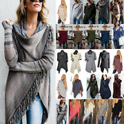 Womenand039s Poncho Shawl Cape Coat Jumper Sweater Blouse Cardigan Waterfall Outwear.