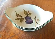 Royal Worcester Evesham Green Individual Casserole Dishes Lot Of 2 Euc