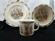 Royal Doulton Bunnykins 1936 Plate Bowl And Mug All Matching Excellent Condition