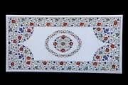 4and039x2and039 Table Top Inlay Marble Pietra Dura Art Coffee Design Hallway Antique A11
