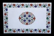 4'x2' Marble Coffee Dining Table Top Marquetry Semi Precious Inlay Lapis Antique