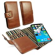 Alston Craig Leather Rfid Magnetic Case Wallet For Iphone 12 Pro Max - Brown