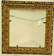 Vintage Gesso Gold Picture Frame W/ Glass 15.5andrdquo X 15 X 1.5