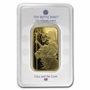 1 Oz Gold Bar - The Royal Mint Una And The Lion - Sku229179