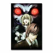 Death Note Anime Art Silk Canvas Poster Print Pretty Poster Best Picture Gift