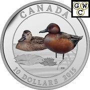 2015 Proof 10 Silver 'cinnamon Teal' Coin .9999 Fine Silver 17000 Nt