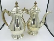Vintage Sterling Silver Coffee / Tea Pot And Hot Water Pot - Crichton 1928 - 1440g
