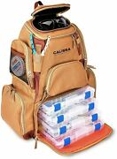 The X-large Fishing Backpack Tackle Box Stores 4 Trays Included