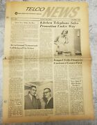 Telco News First Issue Of New Jersey Bell Telephone Company 1962 Newark Branch