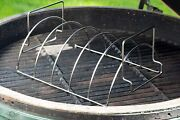 Large 5 Slot Stainless Steel Rib/ Chicken Rack 11.42l X 9.05w X 5.9h 2in1 Design
