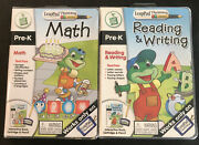 Leap Pad Interactive Bookcartridgeandpencil Reading And Writing/math Lot Of 2