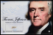 Thomas Jefferson Authentic Hand-written Word Cut In Acrylic Display Case Jsa Loa