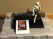 Gentle Giant Scout Trooper And Speeder Bike 16 Scale Statue 1719/5000 Rare