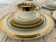 Fitz And Floyd Platine Dand039or China 20 Piece Service For 4 Gold And Platinum China