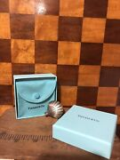 Vintage And Co Silver Shell Perfume Bottle Dabber Case Gift Pouch Box
