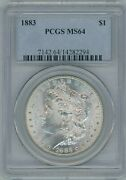 1883 P Pcgs Ms64 Morgan Silver Dollar 1 Better Date 1883-p Ngc Ms-64 Pq Coin