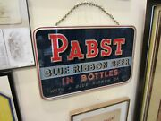 Pabst Reverse Paint On Glass Rog Beer Sign Wisconsin Hard To Find