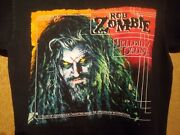 Winter Land Rob Zombie T-shirt Goth Metal Menand039s Size L 1998 Vintage
