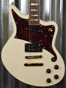 Dand039angelico Deluxe Bedford Offset Vintage White Guitar And Case 0334