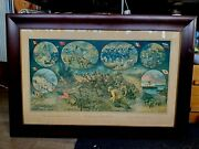 Very Rare Wwi Poster In Original Frame Excellent