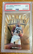 1997-98 Topps Finest Embossed Gold 325 Tim Duncan Psa 9 Mint Diecut Rookie Rc