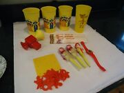 Vintage Mcdonalds Group Early Items Cups , Pencils , Toys Games Watch Pens