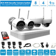 Laview 8ch 1080p Nvr Wireless Wifi 4x Security Network Ip Camera Kit W/1tb Hdd