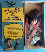 Rare Vintage Hazelle's Marionette Lady In Dress With Original Box