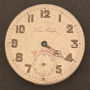 Antique Trans Pacific Pocket Watch Parts/repair Ww1 Us Army 1918 France Case