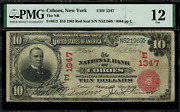 1902 10 National - Cohoes New York - Red Seal - Fr.613 Charter 1347 - Pmg 12