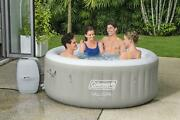 Inflatable Hot Tub Spa 4 Person Jacuzzi Pool Outdoor Relaxing Massage Pump Cover