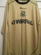 Tranmere Rovers 2007-2009 Long Sleeves Football Shirt Size Large /21396