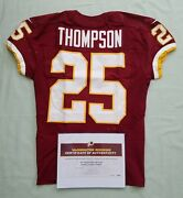 25 Chris Thompson Of Redskins Nfl Game Used And Unwashed Jersey Vs Cowboys - Coa