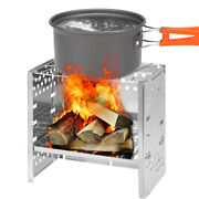 Outdoor Stainless Wood Stove Portable Folding Camping Picnic Hiking Bur-ner Q8x0