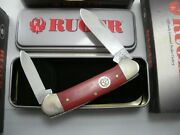 2005 Case Red Canoe Ruger Knife Never Used In Box 102131 Ss