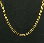 Chain Gold 18k. 25 3/16in 21 Grs. 0 1/8in Of Thickness