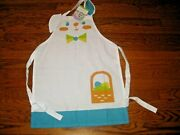 Childrenand039s Easter Apron Cotton Bunny Rabbit New With Tags Girls Boys One Size