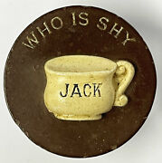 Vintage And Scarce Who Is Shy Jack Pot Clay Poker Chip Gambling Chips