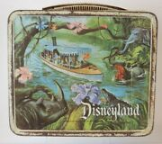 1960's Disneyland Metal Lunch Box With Thermos