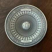 100g Silver United States Capitol 4-layer Antiqued Round / L.e. Of 999 Gorgeous