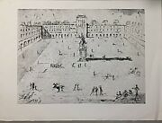 Salvador Dali 'place De Vogue' Hand Signed In Printing Plate